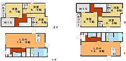 新築 宗像市土穴3丁目アパートA棟[1階]の間取り