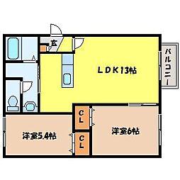 北海道札幌市北区北二十九条西6丁目の賃貸マンションの間取り