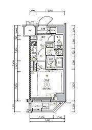 JR総武線 錦糸町駅 徒歩15分の賃貸マンション 3階1Kの間取り