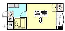 ピュアー紙屋川[302号室]の間取り