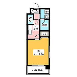 レジディア博多II[3階]の間取り
