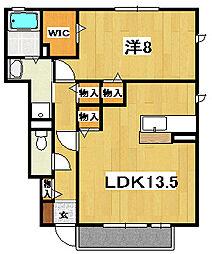 ロハスタウンII[1階]の間取り
