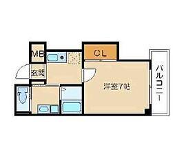 大阪府大阪市北区中崎2丁目の賃貸マンションの間取り