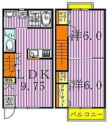 [テラスハウス] 千葉県野田市関宿台町 の賃貸【/】の間取り