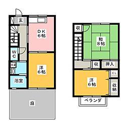 [テラスハウス] 愛知県豊川市三蔵子町大道 の賃貸【/】の間取り