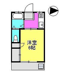 プラムハイム市川2[2階]の間取り