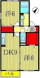 クレストパーク D[1階]の間取り