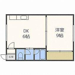 中央地建コーポ[1階]の間取り