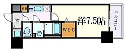 名古屋市営東山線 新栄町駅 徒歩7分の賃貸マンション 13階1Kの間取り