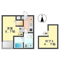 カセア(Casea)[1階]の間取り