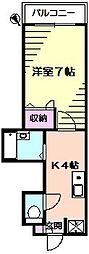 トップヒルズIII[1階]の間取り
