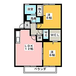 ヴィラージュU[2階]の間取り