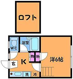 Kドルセーメゾン[1階]の間取り
