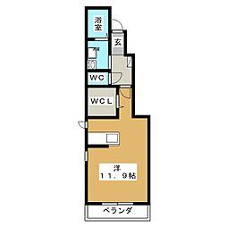 ディアコートBO[1階]の間取り