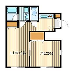 都営大江戸線 新江古田駅 徒歩12分の賃貸テラスハウス 1階1LDKの間取り