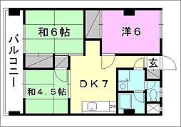 コンフォート桜 6[701 号室号室]の間取り