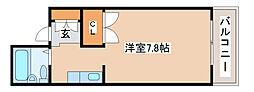 兵庫県明石市本町1丁目の賃貸マンションの間取り