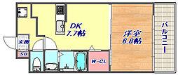 アビータミオ神戸岡本[3階]の間取り