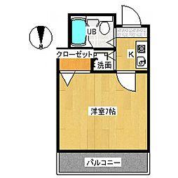 荒木マンション[3階]の間取り