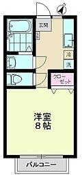 東京都世田谷区上祖師谷6丁目の賃貸アパートの間取り