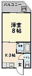 第3三恵ビル[302号室]の間取り
