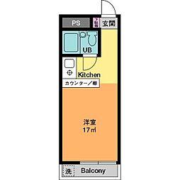 ドエル平井C棟[3階]の間取り