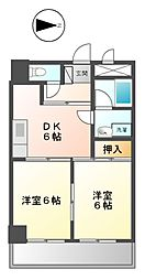 ハニーハイツ渡辺II[4階]の間取り