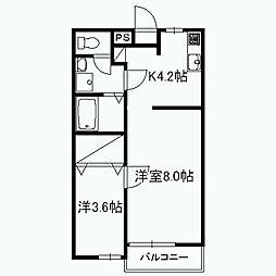 サンフォレスト富士[1階]の間取り