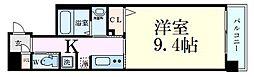ファーストフィオーレ梅田イースト 2階1Kの間取り