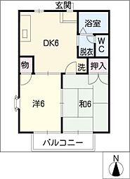 ミヤマエハイツ[2階]の間取り