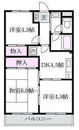 フォルム上井草[3階]の間取り