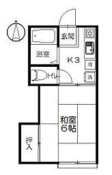 サニー元町II[203号室]の間取り