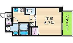 レオンコンフォート上本町[9階]の間取り