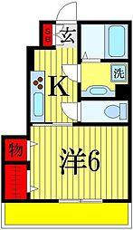 (仮)D-room谷津2丁目[1階]の間取り