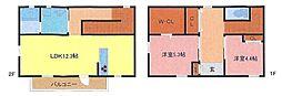 [テラスハウス] 埼玉県さいたま市浦和区元町1丁目 の賃貸【埼玉県 / さいたま市浦和区】の間取り
