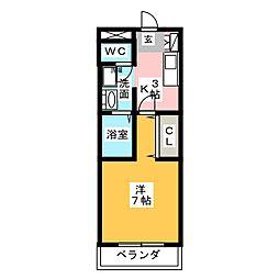 アウルスクエア[1階]の間取り