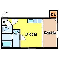 北海道札幌市東区北十条東4丁目の賃貸アパートの間取り