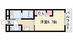 愛知県名古屋市熱田区伝馬2丁目の賃貸マンションの間取り