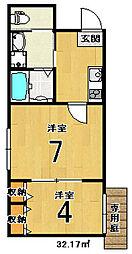 nico西京極[1階]の間取り