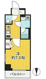AZEST川崎大師2 6階1Kの間取り
