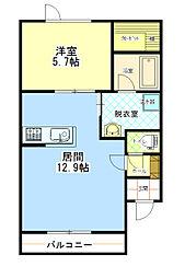北海道帯広市東六条南16の賃貸アパートの間取り