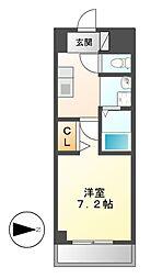 DORF JUBAN[5階]の間取り