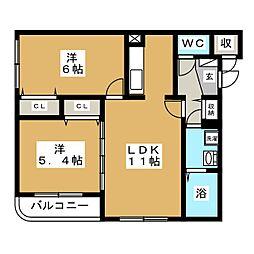 北海道札幌市中央区南十一条西8丁目の賃貸マンションの間取り
