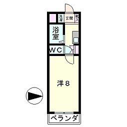 若草フェニックスマンション[1階]の間取り