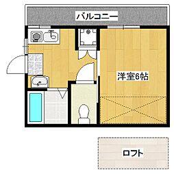 桃栄ハイツ[2階]の間取り