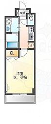南海高野線 浅香山駅 徒歩6分の賃貸マンション 2階1Kの間取り