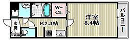大阪府堺市堺区大仙中町の賃貸アパートの間取り