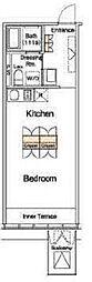 アイリブフォレスト 10階ワンルームの間取り