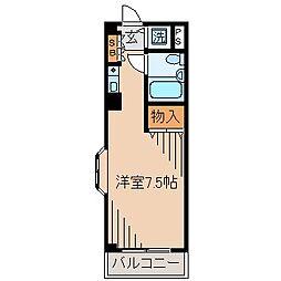 神奈川県横浜市神奈川区平川町の賃貸マンションの間取り