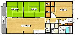 メゾンクミヂ[202号室]の間取り